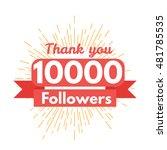 thank you followers   Shutterstock .eps vector #481785535