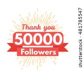 thank you followers | Shutterstock .eps vector #481785547