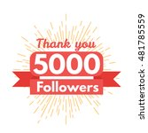 thank you followers | Shutterstock .eps vector #481785559