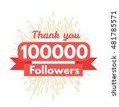 thank you followers | Shutterstock .eps vector #481785571
