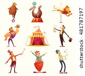 traveling chapiteau circus... | Shutterstock .eps vector #481787197