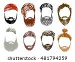 hand drawn hipster style and... | Shutterstock .eps vector #481794259