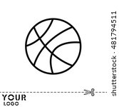 web line icon. basketball | Shutterstock .eps vector #481794511