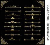 set of vector decorative... | Shutterstock .eps vector #481795444