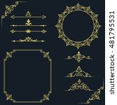 set of vintage elements. frames ... | Shutterstock .eps vector #481795531