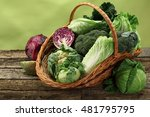 many cabbages in a basket   Shutterstock . vector #481795795