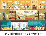 house happy family is forever... | Shutterstock .eps vector #481798459