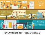 family is forever healthy...   Shutterstock .eps vector #481798519