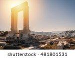portara of naxos  famous...   Shutterstock . vector #481801531