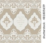 vintage delicate lace baroque... | Shutterstock .eps vector #481805659