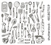 Kitchen Supplies Set. Hand...