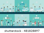 nurse health care decorative... | Shutterstock .eps vector #481828897