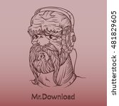 the man with beard. can be used ... | Shutterstock .eps vector #481829605