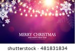 christmas background with... | Shutterstock .eps vector #481831834