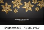 elegant christmas background... | Shutterstock .eps vector #481831969