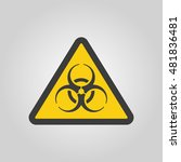 the biohazard icon. biohazard... | Shutterstock . vector #481836481