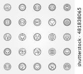 donation and charity badges set.... | Shutterstock .eps vector #481838065