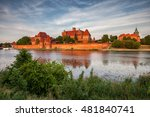 malbork castle at nogat river... | Shutterstock . vector #481840741