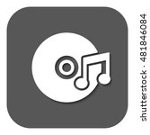 the music icon. disc symbol.... | Shutterstock . vector #481846084