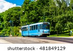 City Tram At Slottsparken...