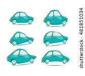 set of cartoon cars on...   Shutterstock .eps vector #481851034