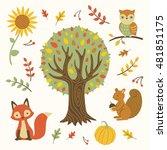 vector illustration of autumn... | Shutterstock .eps vector #481851175