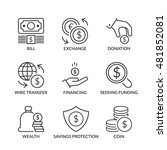 coin icons set  thin line ...   Shutterstock .eps vector #481852081