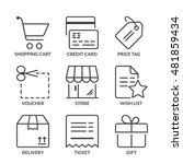 shopping icons set  thin line ... | Shutterstock .eps vector #481859434