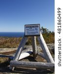 Small photo of The natural beauty of the Acadia National Park in Bar Harbor (Maine, USA) from the Cadillac Mountain during the indian summer with changing foliage of fall