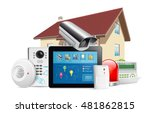 home security system concept  ... | Shutterstock .eps vector #481862815