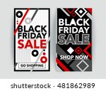 set of black friday sale banner.... | Shutterstock .eps vector #481862989