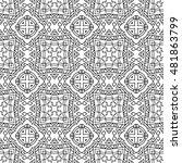 abstract aztec seamless pattern.... | Shutterstock .eps vector #481863799