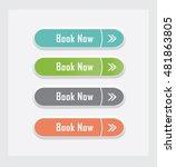 book now. set of vector web... | Shutterstock .eps vector #481863805