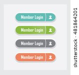 member login. set of vector web ... | Shutterstock .eps vector #481864201