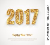 happy new year banner with 2017 ... | Shutterstock .eps vector #481866064