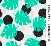 seamless repeating pattern with ... | Shutterstock .eps vector #481879051