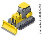 Bulldozer Detailed Isometric...