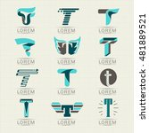 logo letter t. element and... | Shutterstock .eps vector #481889521