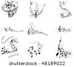 musical designs sets with... | Shutterstock .eps vector #48189022