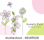 abstract vector greetings card... | Shutterstock .eps vector #48189028