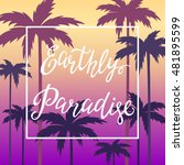 hand lettering poster with the... | Shutterstock .eps vector #481895599