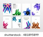 geometric background. template... | Shutterstock .eps vector #481895899