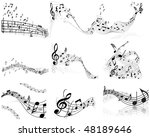 musical notes staff backgrounds ... | Shutterstock . vector #48189646