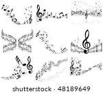 musical notes staff backgrounds ... | Shutterstock . vector #48189649
