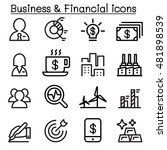 business   financial icon set... | Shutterstock .eps vector #481898539