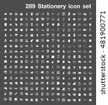 286 stationery icon set | Shutterstock .eps vector #481900771