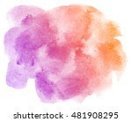 abstract purple watercolor on... | Shutterstock . vector #481908295
