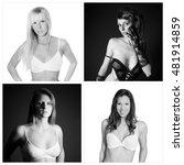 closeup portraits of four... | Shutterstock . vector #481914859