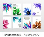geometric background. template... | Shutterstock .eps vector #481916977