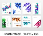 geometric background. template... | Shutterstock .eps vector #481917151